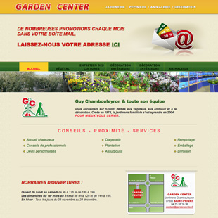 Site web de Garden Center