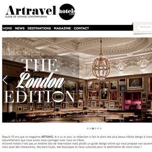 Site web Artravel Hotels